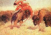 The Buffalo Runner, Frederick Remington