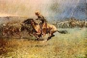 The Stampede, Frederick Remington