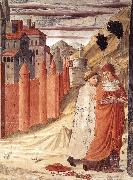 The Departure of St Jerome from Antioch dg, GOZZOLI, Benozzo