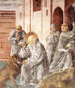 St Jerome Pulling a Thorn from a Lion's Paw sd, GOZZOLI, Benozzo