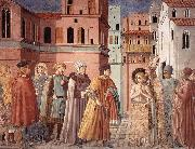 Scenes from the Life of St Francis (Scene 3, south wall) sdg, GOZZOLI, Benozzo