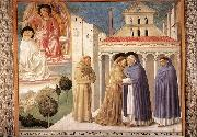 Scenes from the Life of St Francis (Scene 4, south wall) sdg, GOZZOLI, Benozzo