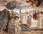 Scenes from the Life of St Francis (Scene 6, north wall) g, GOZZOLI, Benozzo