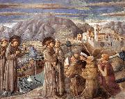 Scenes from the Life of St Francis (Scene 7, south wall) dfg, GOZZOLI, Benozzo