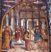 Scenes from the Life of St Francis (Scene 9, north wall) dh, GOZZOLI, Benozzo