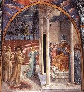 Scenes from the Life of St Francis (Scene 10, north wall) dry, GOZZOLI, Benozzo