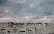 GUARDI, Francesco San Cristoforo, San Michele and Murano, Seen from the Fondamenta Nuove sh oil painting