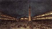 GUARDI, Francesco Nighttime Procession in Piazza San Marco fdh oil painting