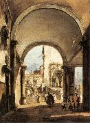 GUARDI, Francesco An Architectural Caprice oil painting on canvas