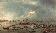 GUARDI, Francesco Outward Voyage of the Bucintoro to San Nicol del Lido dfg oil painting reproduction