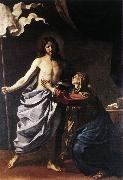 The Resurrected Christ Appears to the Virgin hf, GUERCINO