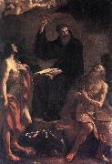 St Augustine, St John the Baptist and St Paul the Hermit hf, GUERCINO