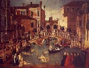 The Miracle of the True Cross near the San Lorenzo, Gentile Bellini