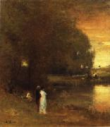 George Inness Over the River oil painting reproduction