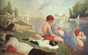 Georges Seurat Bathing at Asniers oil painting artist