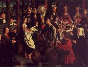 Gerard David The Marriage Feast at Cana oil painting