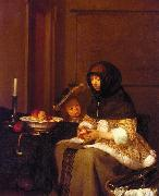 Gerard Ter Borch Woman Peeling Apples oil painting on canvas