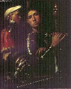 Portrait of Warrior with his Equerry sg, Giorgione