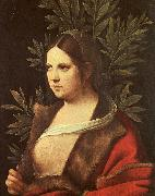 Giorgione Laura oil painting
