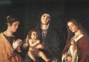 Giovanni Bellini The Virgin and the Child with Two Saints USA oil painting reproduction