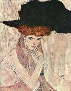 The Black Feather Hat, Gustav Klimt