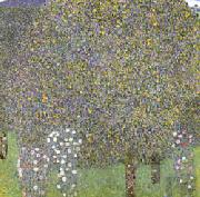 Rose Bushes Under the Trees, Gustav Klimt