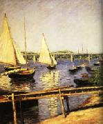Sail Boats at Argenteuil, Gustave Caillebotte