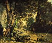 Gustave Courbet A Thicket of Deer at the Stream of Plaisir-Fontaine oil painting