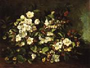 Gustave Courbet Apple Tree Branch in Flower oil painting