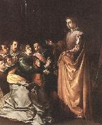HERRERA, Francisco de, the Elder St Catherine Appearing to the Prisoners sf oil painting artist