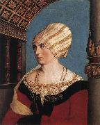 HOLBEIN, Hans the Younger Portrait of the Artist's Wife oil painting artist