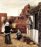 Woman and Maid in a Courtyard st