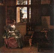 Woman Reading a Letter s