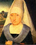 Hans Memling Portrait of an Old Woman oil painting