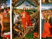 Hans Memling Resurrection Triptych oil painting