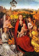 Hans Memling Mary in the Rose Bower oil painting