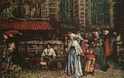 Hendrick Leys The Bird Catcher oil painting artist
