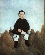 Henri Rousseau Boy on the Rocks oil painting