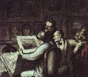 The Print Collectors, Honore  Daumier