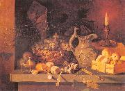Ivan Khrutsky Still Life with a Candle oil painting