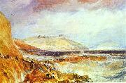 Pendennis Castle Cornwall; Scene after a Wreck., J.M.W. Turner