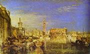 Bridge of Signs, Ducal Palace and Custom- House, Venice Canaletti Painting, J.M.W. Turner