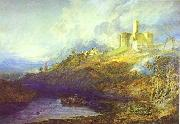 Warkworth Castle Northumberland Thunder Storm Approaching at Sun-Set., J.M.W. Turner