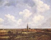 Landscape with Church and Village, Jacob van Ruisdael