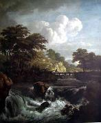 Jacob van Ruisdael Sunlight on the Waterfront oil painting artist
