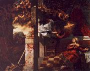 Jacopo Robusti Tintoretto The Annunciation oil painting reproduction