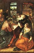 Jacopo Robusti Tintoretto Christ in the House of Martha and Mary oil painting artist