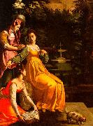Jacopo da Empoli Susanna and the Elders oil painting