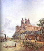 Jakob Alt The Monastery of Melk on the Danube USA oil painting reproduction