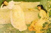 James Abbott McNeil Whistler Symphony in White 3 oil painting reproduction